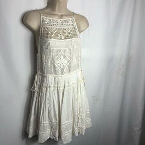 Free People Emily White Crochet Dress xs 0654